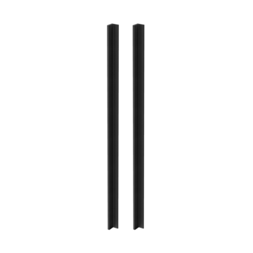 Silhouette product image in perfect product view shows the GRIFFWERK grip rod pair PLANEO GS_49012 in the version for glass - graphite black - adhesive technology SENSA