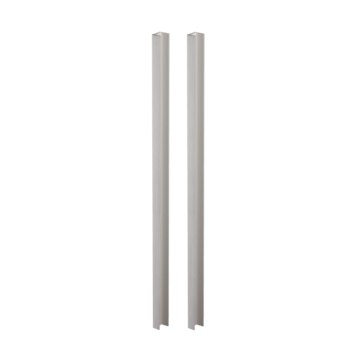 Silhouette product image in perfect product view shows the GRIFFWERK grip rod pair PLANEO GS_49013 in the version for glass - stainless steel look - adhesive technology SENSA