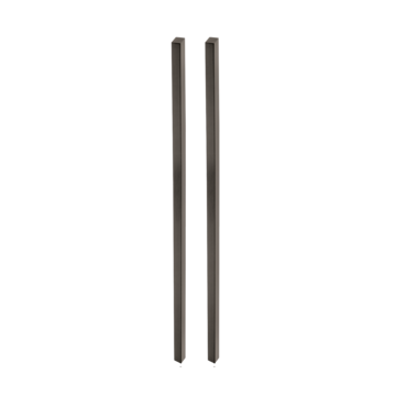Silhouette product image in perfect product view shows the GRIFFWERK grip rod pair PLANEO GS_49011 in the version for glass - cashmere grey - adhesive technology SENSA