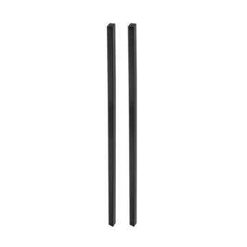 Silhouette product image in perfect product view shows the GRIFFWERK grip rod pair PLANEO GS_49011 in the version for glass - graphite black - adhesive technology SENSA
