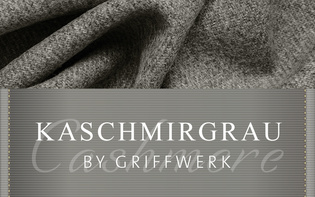 Cashmere grey is the name of the new, warm surface colour for fittings with an unusual feel from Griffwerk.