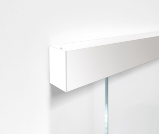 p ractically invisible integration: PLANEO 120 in white surface finish