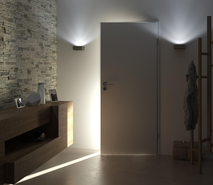 Individual light transmissing room separation is very limited by using wodden doors.